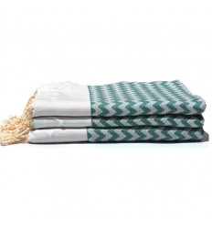 Fouta turkish towels green & yellow