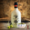 Huile d'olive extra vierge dans une bouteille en céramique