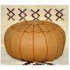 Leather pouf - Round leather ottoman