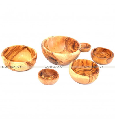 Olive wood Bowls (LOT OF 6)