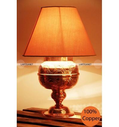 Baroque table lamp: copper