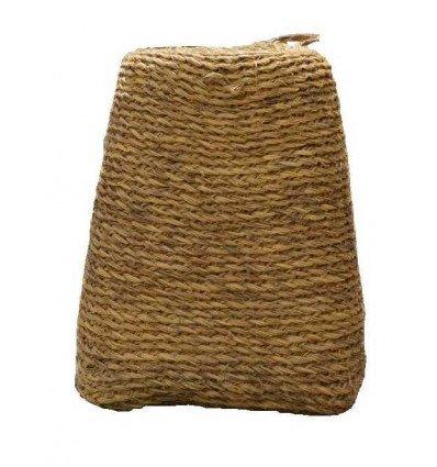 Lot 2 pouf design naturel - Pouf marocain en cuir