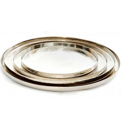 Round hammered Copper Serving Trays