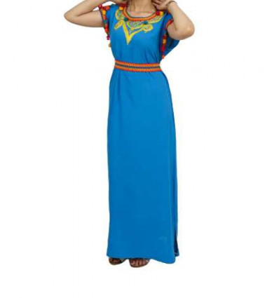 DJELLABA MODERNE POUR FEMME TURQUOISE