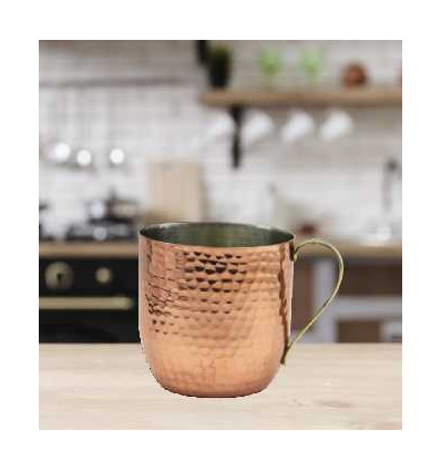 Lightweight Hammered Mugs for Hot or Cold Drinks