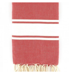Fouta rouge pale