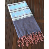Soft Striped Throw with Fringes