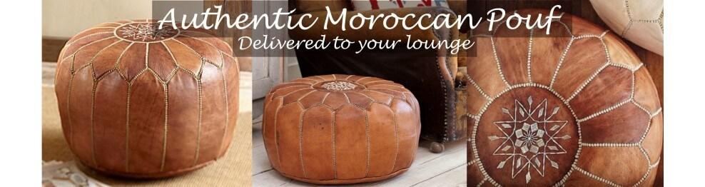 Puffs marroquíes de cuero